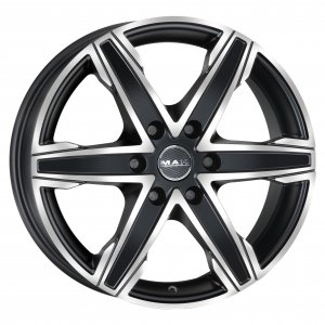 MAK KING6 ICE BLACK 8J x 18 (6x130 ET50) F80806KIB50M3